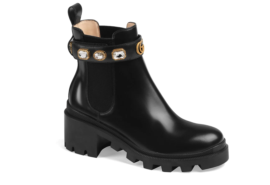 Gucci Trip Bootie with Jewelry