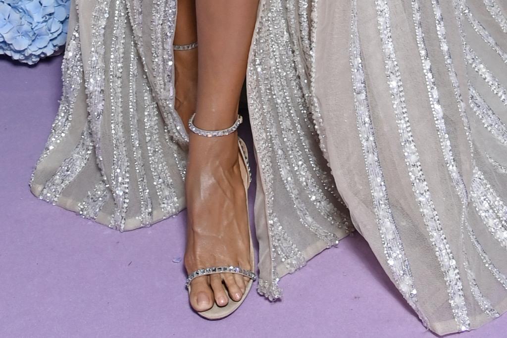 Heidi Klum, Elie Saab, Aquazzura, sandals, UNICEF, Capri, Italy, gala