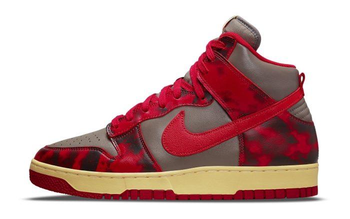 Nike Dunk High 1985 'Red Acid Wash'