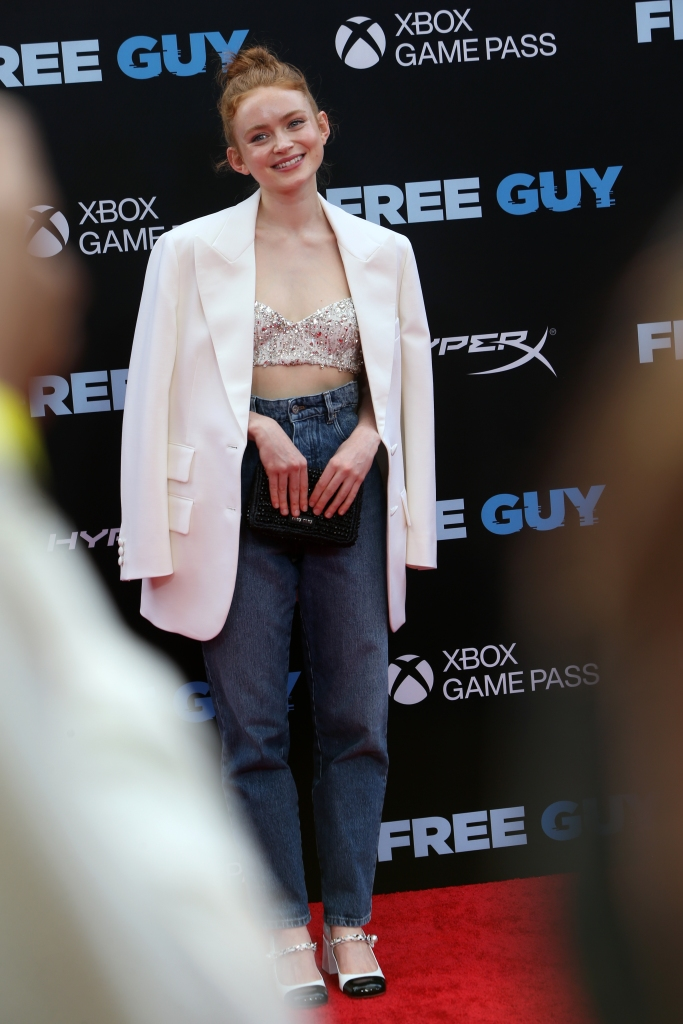 """Sadie Sink attends the premiere of """"Free Guy"""" at AMC Lincoln Square Theater in New York, NY on August 03, 2021."""