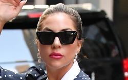 Lady Gaga, Giuseppe Zanotti, Rodarte, white