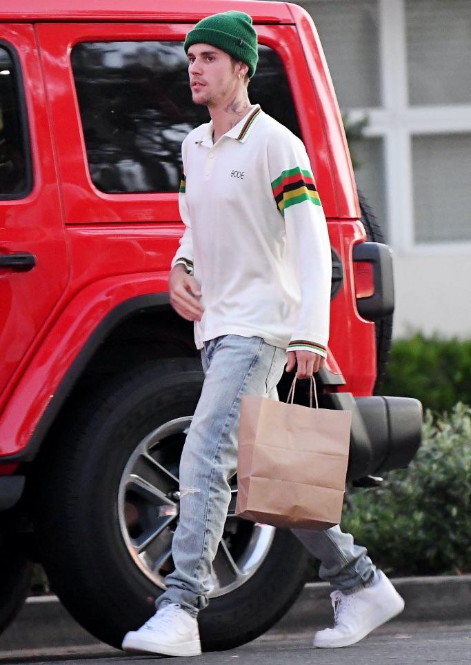 Justin Bieber, Hailey Bieber, Nike Air Force One, LA