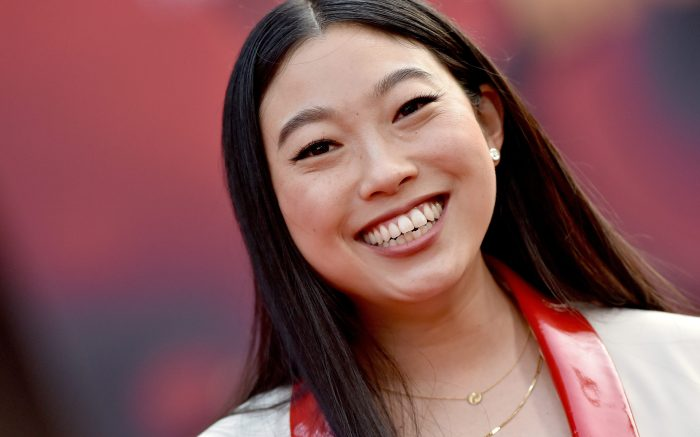 """Disney's Premiere of """"Shang-Chi and the Legend of the Ten Rings"""". El Capitan Theatre, Hollywood, CA. Pictured: Jayden Zhang. EVENT August 16, 2021. 16 Aug 2021 Pictured: Awkwafina. Photo credit: AXELLE/BAUER-GRIFFIN / MEGA TheMegaAgency.com +1 888 505 6342 (Mega Agency TagID: MEGA779148_001.jpg) [Photo via Mega Agency]"""