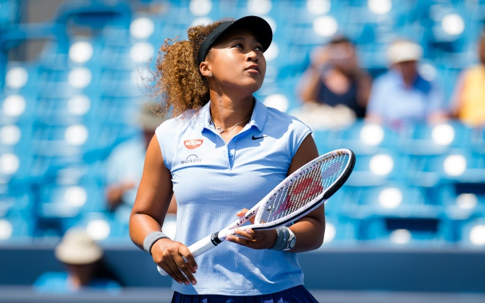 Ashleigh Barty of Australia in action during the second round of the 2021 Western. 18 Aug 2021 Pictured: August 18, 2021, CINCINNATI, UNITED STATES: Naomi Osaka of Japan in action during the second round of the 2021 Western ©. Photo credit: ZUMAPRESS.com / MEGA TheMegaAgency.com +1 888 505 6342 (Mega Agency TagID: MEGA779575_052.jpg) [Photo via Mega Agency]
