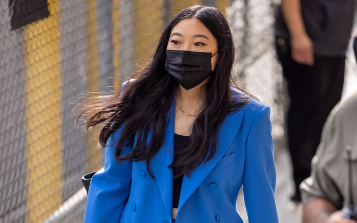Awkwafina is all smiles at Kimmel in LA