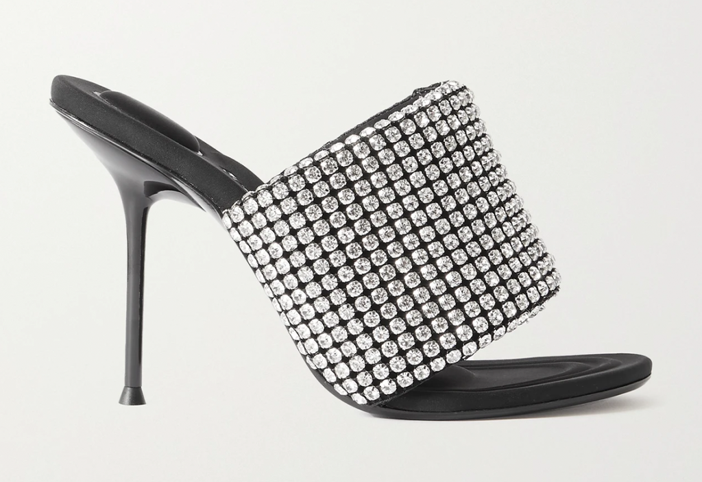 Alexander Wang Sienna crystal-embellished leather mules