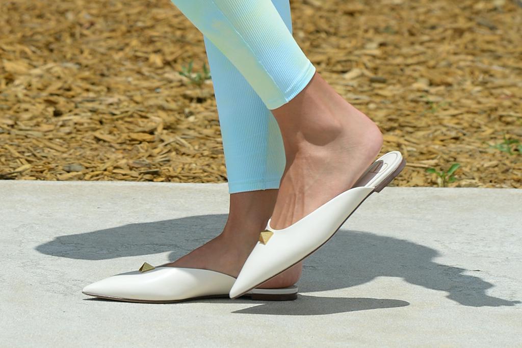 Olivia Culpo, Valentino, Bottega Veneta, Cupshe, white mules, tie dye, athleisure, matching sets