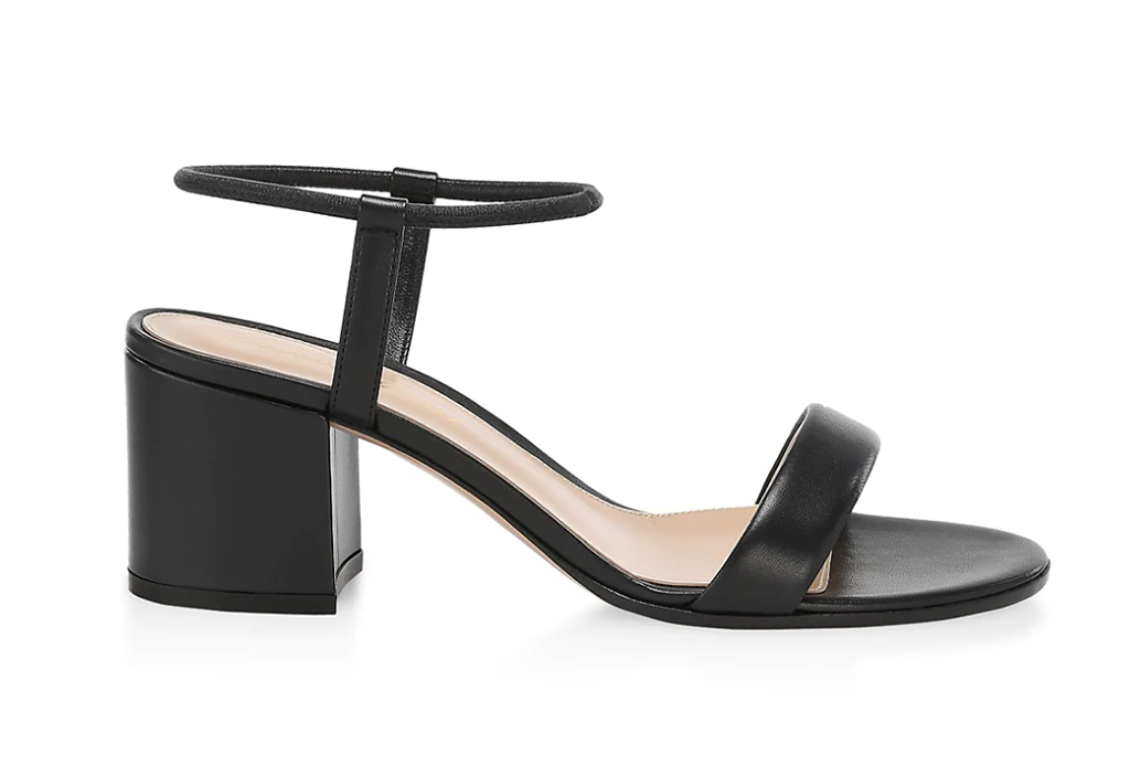 Gianvito Rossi Nadia Leather Block-Heel Sandals