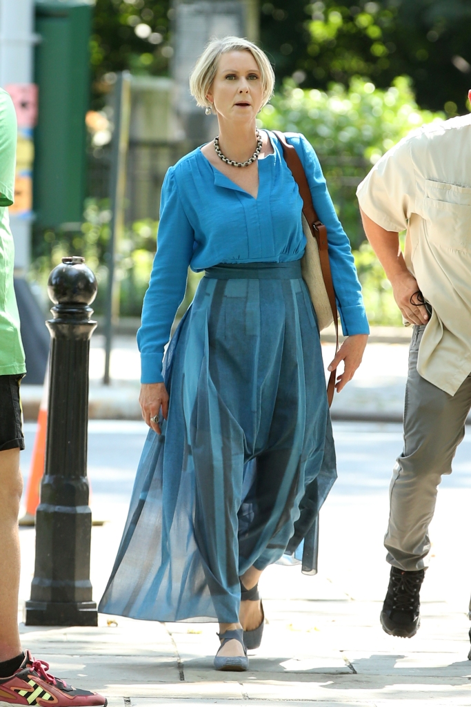 Cynthia Nixon, Jessica Simpson, ballet flats, and just like that, nyc