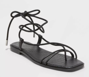 Women's Talia Lace Up Sandals - A New Day