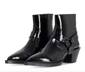 Kooples Patent Leather Ankle Boot