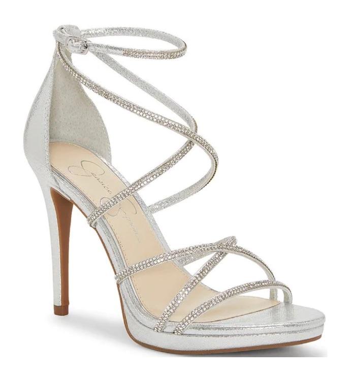 Jessica Simpson Jaeya Rhinestone Strappy Dress Sandals
