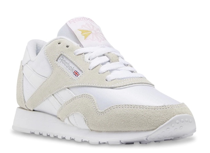 Reebok CL Sneakers, white shoes, classic