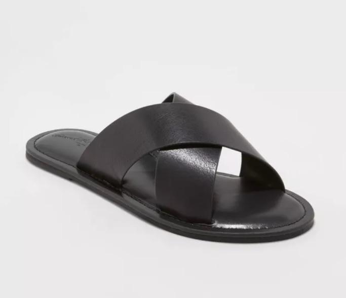Colene Crossband Slide Sandals