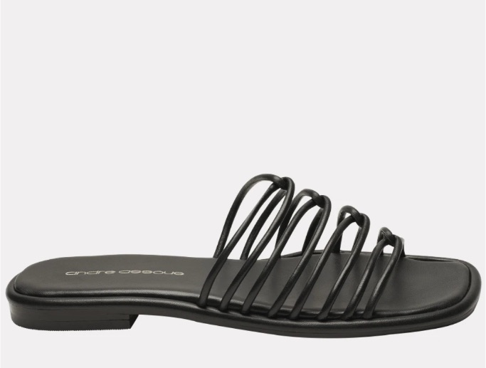 Andre Assous black flat sandal