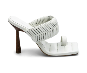 Gia x RHW Woven Leather Toe-Loop Mules