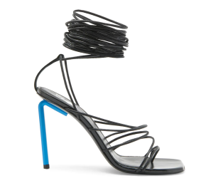 Off-White Allen Leather Lace-Up High Heel Sandals