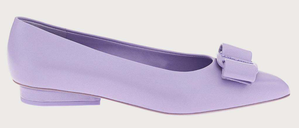 Ferragamo, Viva flats, purple ballet flats