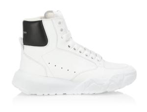 Alexander McQueen High-Top Court Leather Sneakers