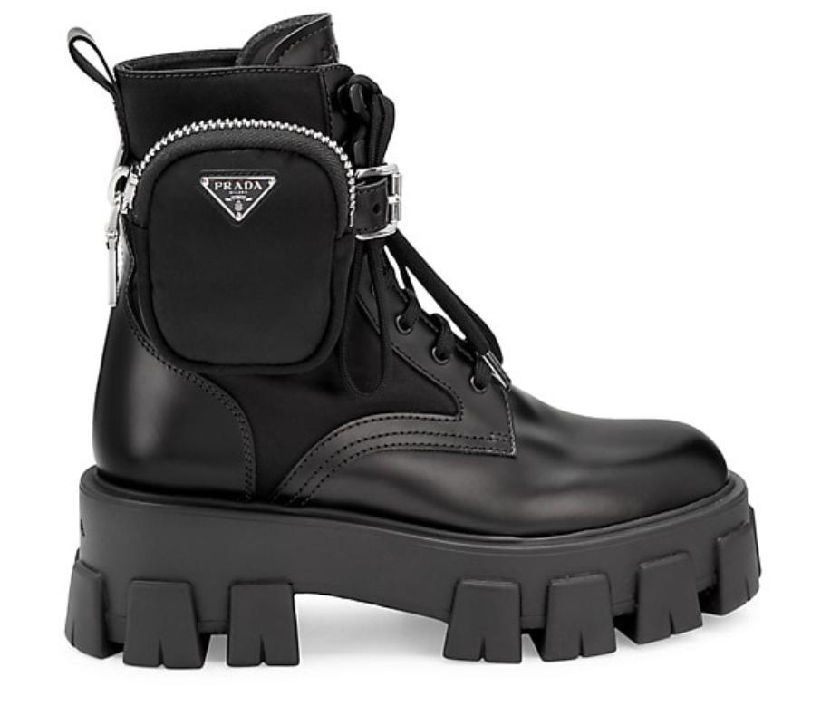 Prada, combat boots