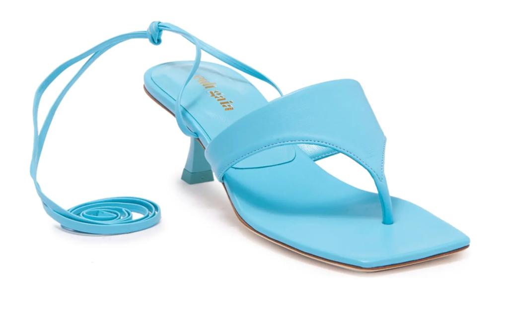 thong sandals, blue, heels, cult gaia