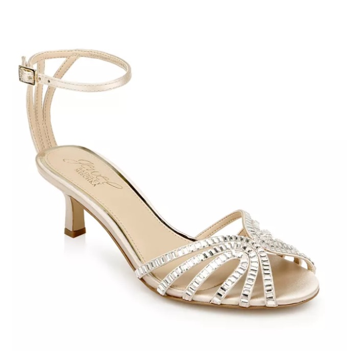 Jewel Badgley Mischka Women's Ocean Embellished Sandal