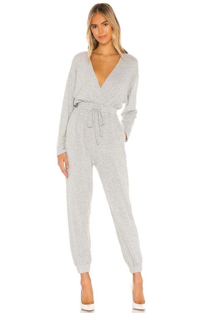 jumpsuit, gray, majorelle