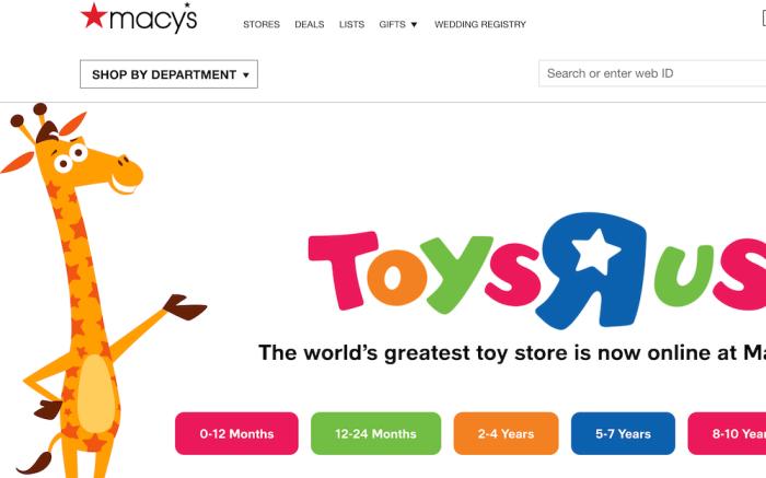 Toys R Us Macy's Website
