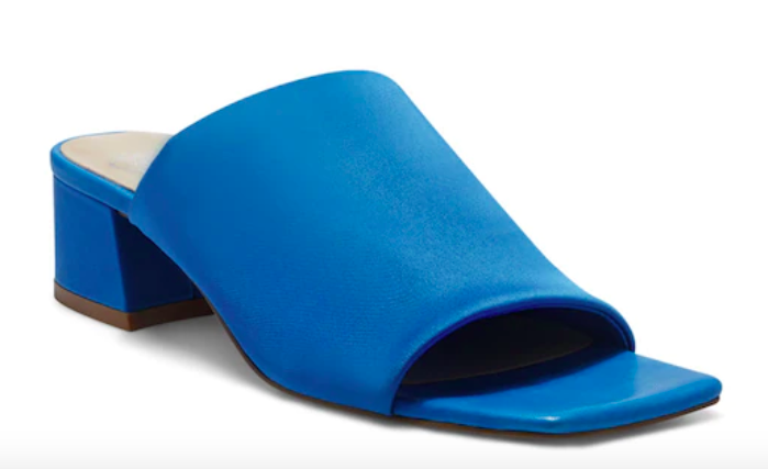 Vince Camuto, blue mules