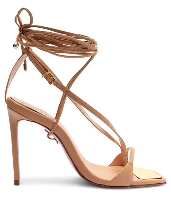 Schutz, ankle wrap sandals