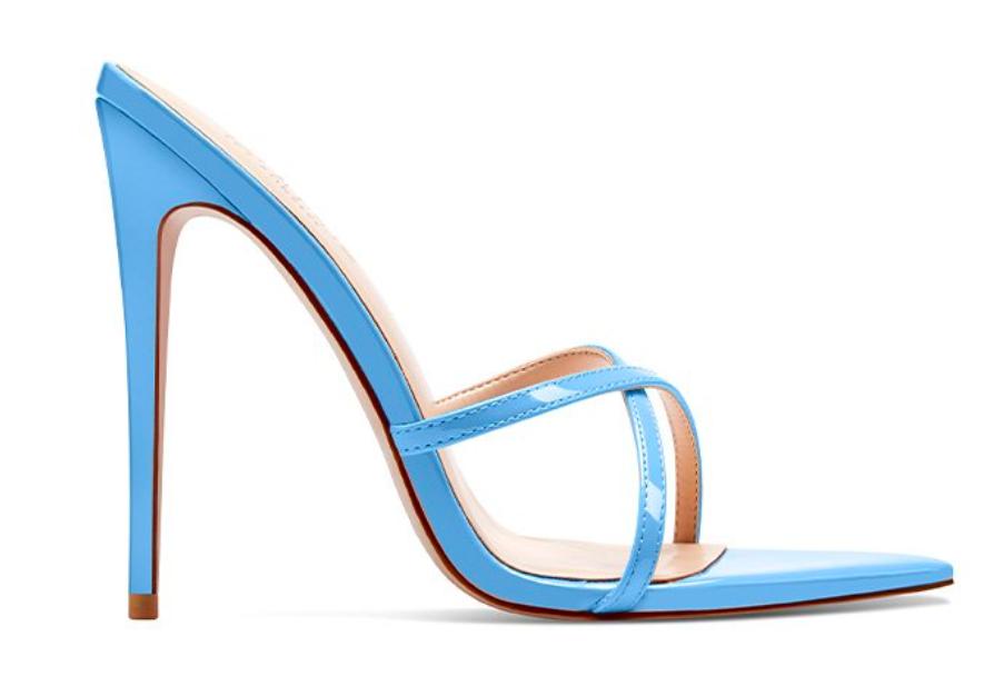 Femme LA, blue mules