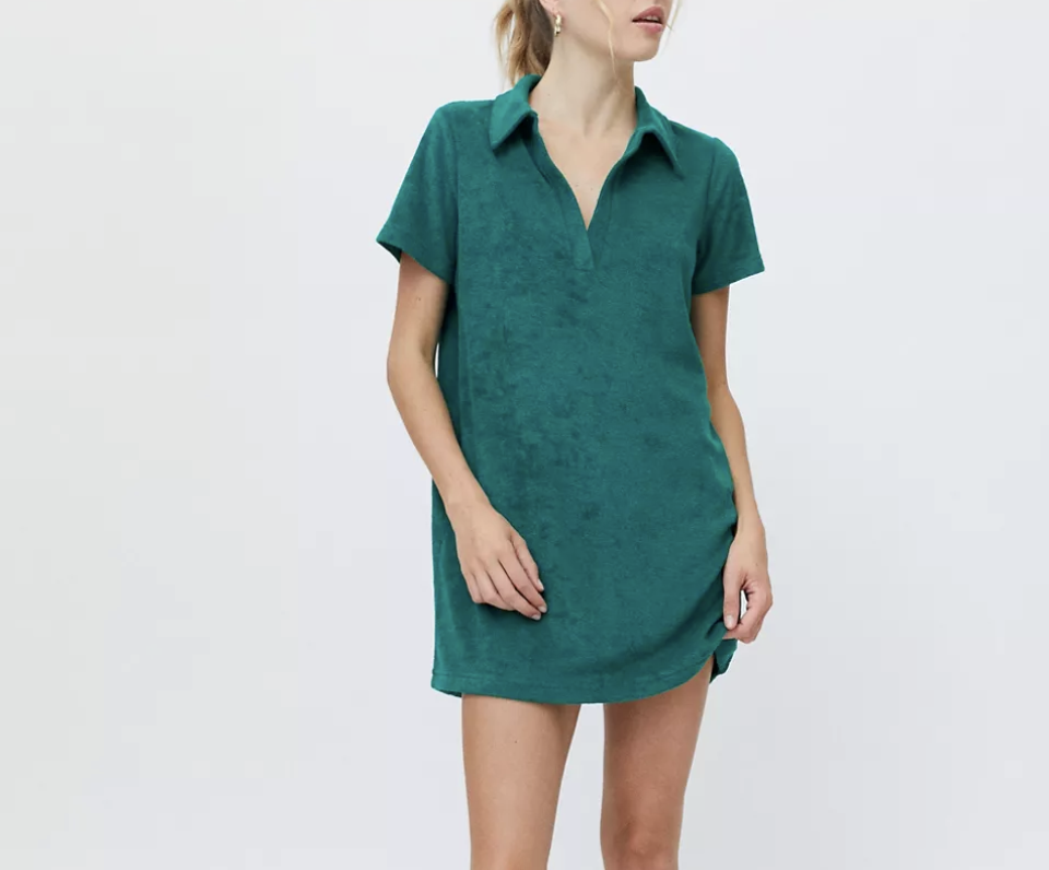 green dress, terry, urban outfitters