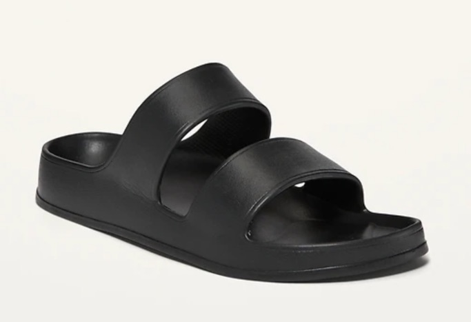 Image number 3 showing, Solid-Color EVA Double-Strap Slide Sandals for Women Image number 4 showing, Solid-Color EVA Double-Strap Slide Sandals for Women Image number 5 showing, Solid-Color EVA Double-Strap Slide Sandals for Women Image number 6 showing, Solid-Color EVA Double-Strap Slide Sandals for Women Solid-Color EVA Double-Strap Slide Sandals for Women