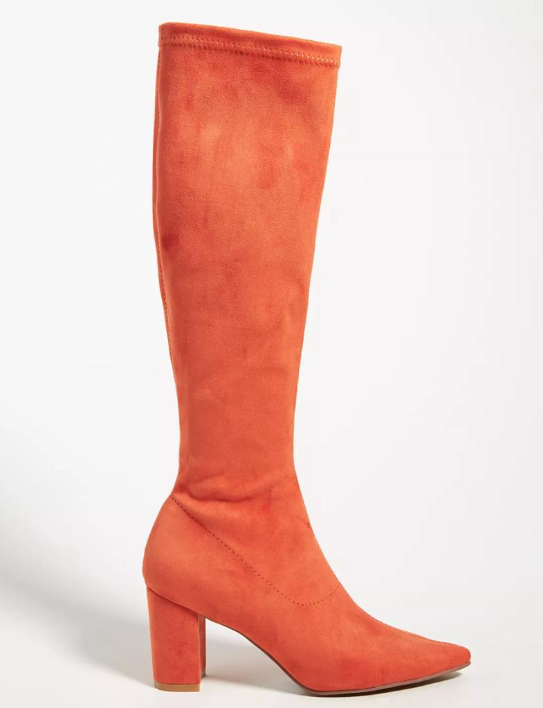 orange boots, antrhopologie
