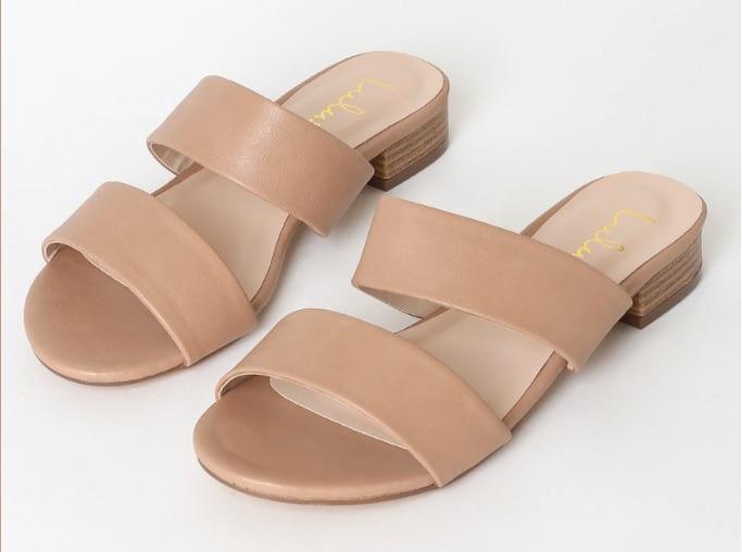 Lulu's Decker Nude Slide Sandal