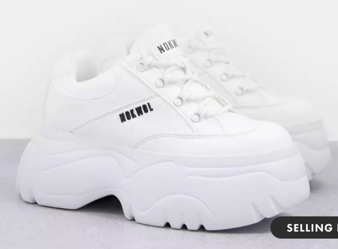 SELLING FAST Nokwol Scripter vegan chunky sneakers