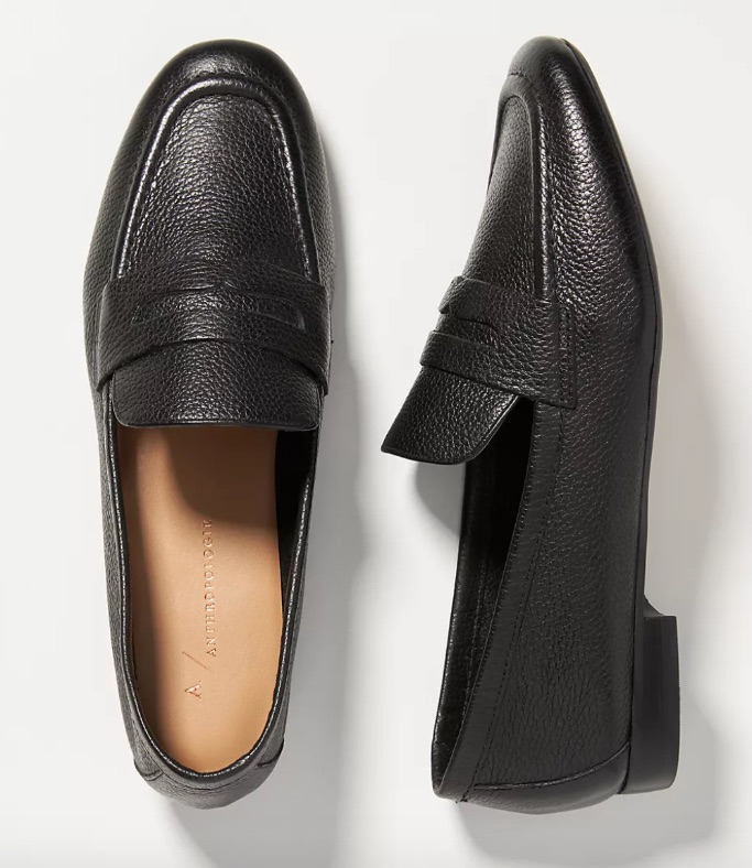 Anthropologie Pilcro Leather Loafers