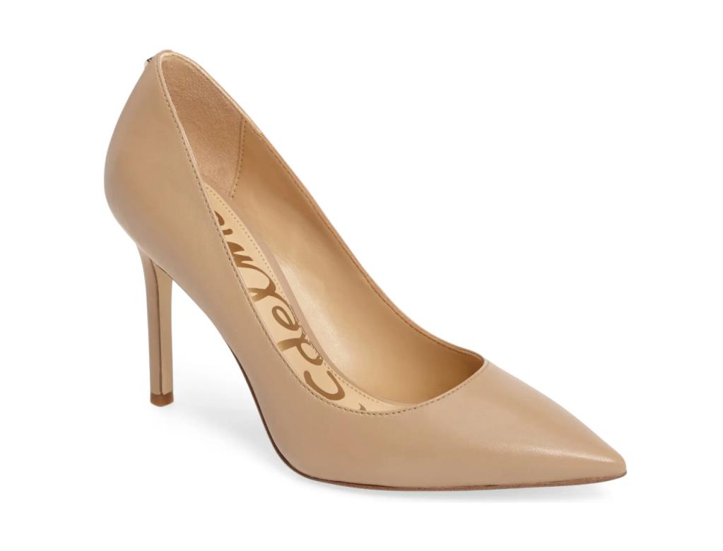 nude pumps, heels, sam edelman