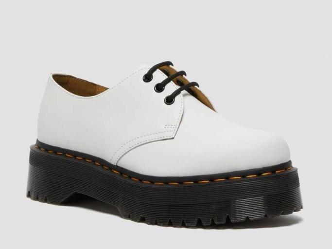 dr martens, 1461 smooth leather platform shoes