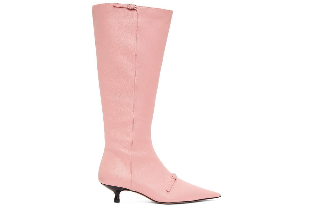 pink boots, knee high, abra