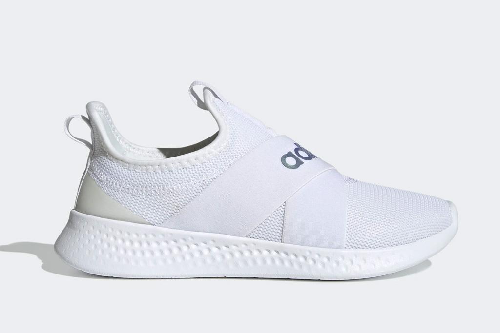adidas, sneakers, slip on, white