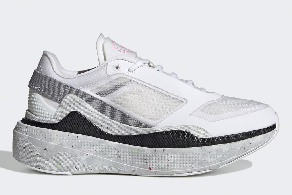 white sneakers, mesh, womens, adidas, stellla mccartneey