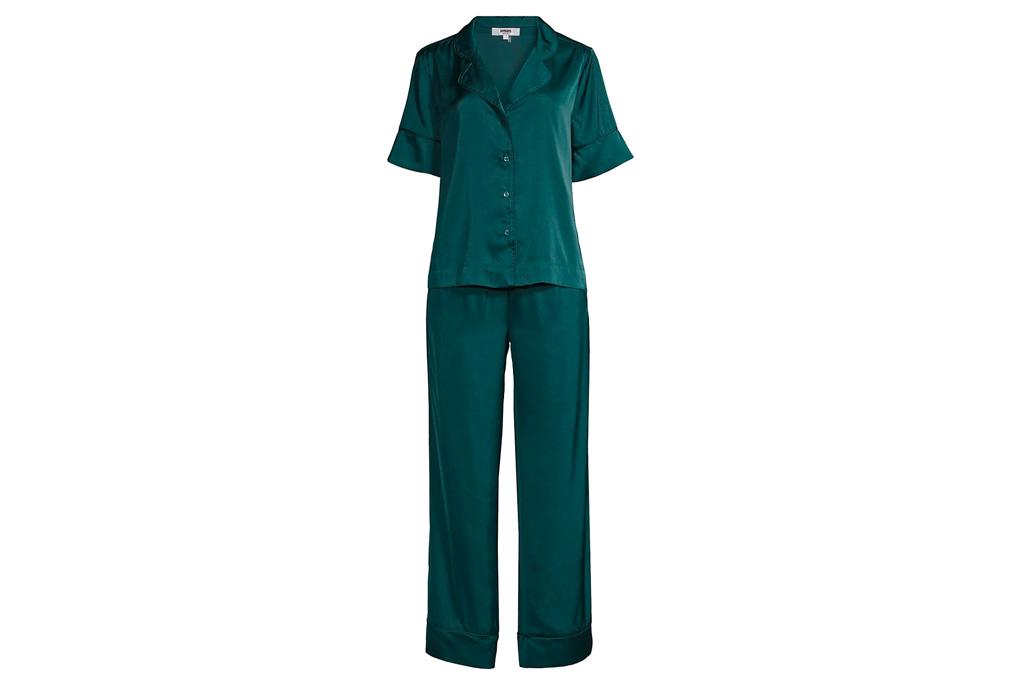 silk set, blue, pajamas, apparis