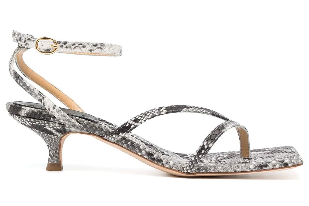 snakeskin sandals, heels, awake mode