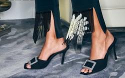 Black Suede Studio, fall 2021, sandals