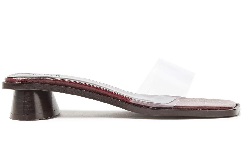 pvc heels, clear mules, by far