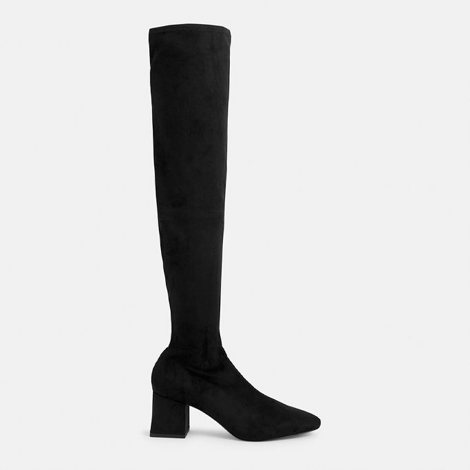 Charles & Keith Textured Thigh High Boots, fall shoes 2021