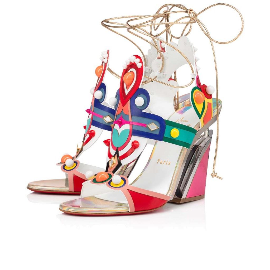 Christian Louboutin's Papagaya Levita wedge sandals