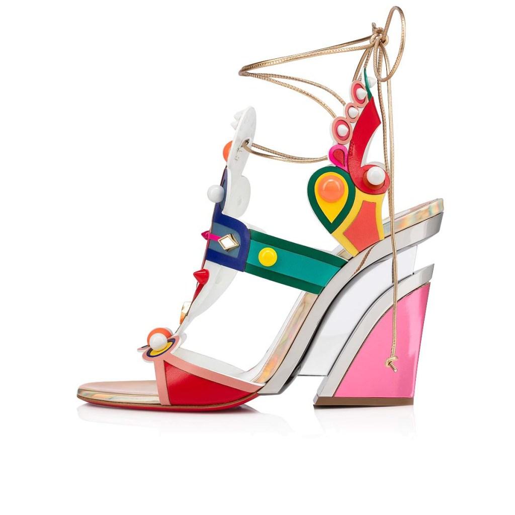 christian louboutin Papagaya Levita wedge sandals
