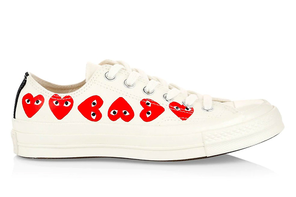 logo sneakers, comme des garcons